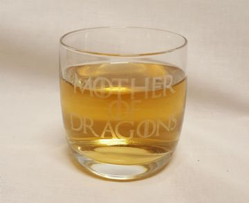 "Game of Thrones Inspired ""Mother of Dragons"" Whisky Tumbler Glass"